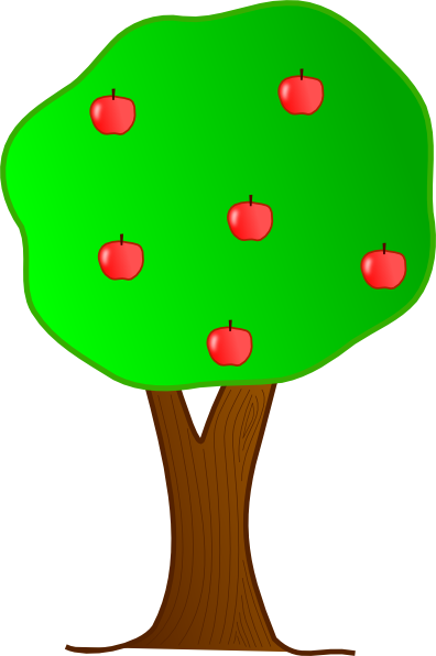 clipart apple tree.