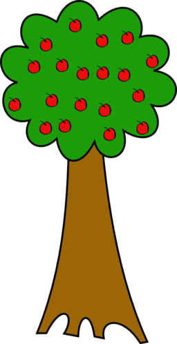 2 apple tree clipart.