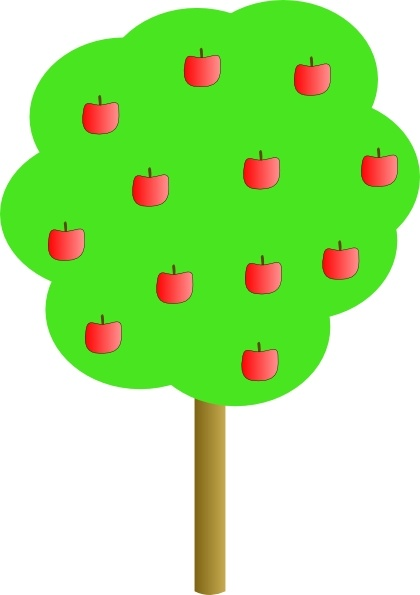 Apple Tree clip art Free vector in Open office drawing svg ( .svg.