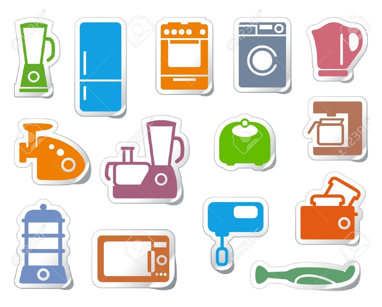 Home Appliances Clipart.