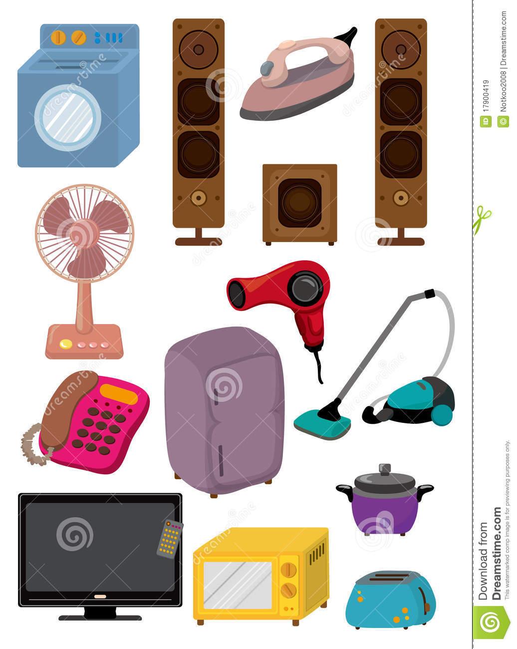 Cartoon Appliances Clipart.