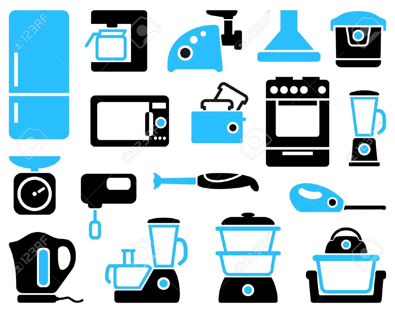 Kitchen Appliances Clip Art ~ Small appliances clipart clipground
