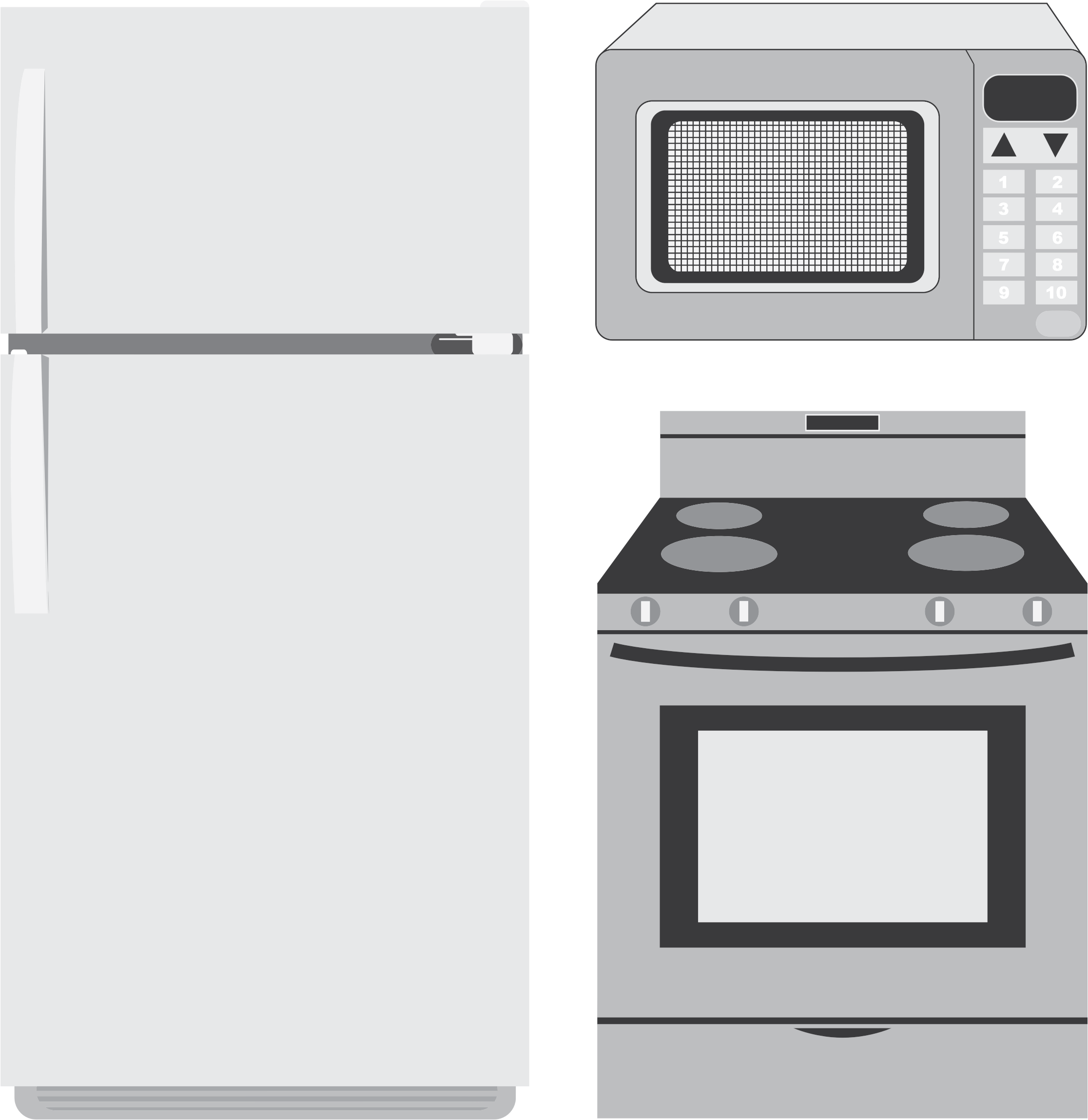 Kitchen Design Clip Art: Appliance Clipart