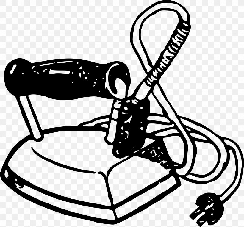 Clothes Iron Home Appliance Clip Art, PNG, 2400x2235px.