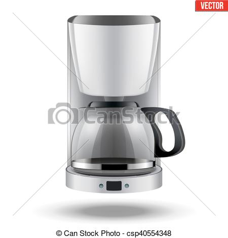 EPS Vector of Coffee maker with glass pot..
