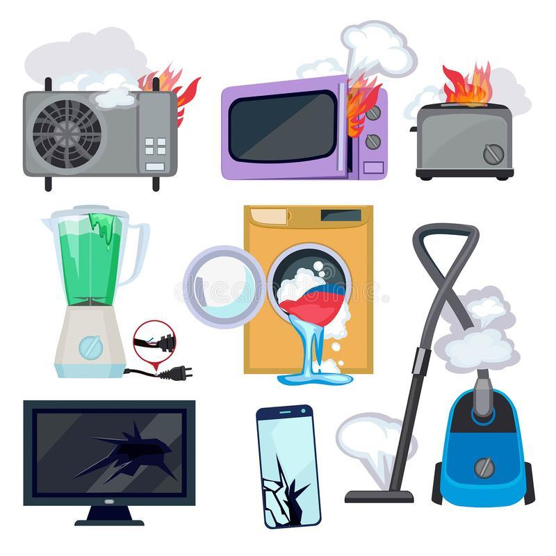 Appliance Repair Stock Illustrations.