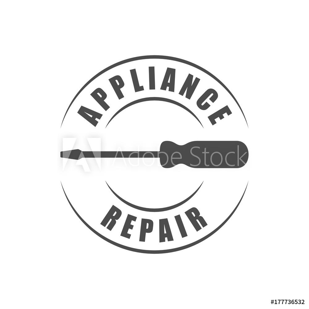 Photo & Art Print Appliance repair service logo with.