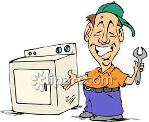Cartoon of an Appliance Repairman.