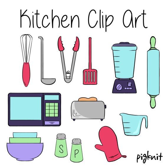 Clipart kitchen appliances.