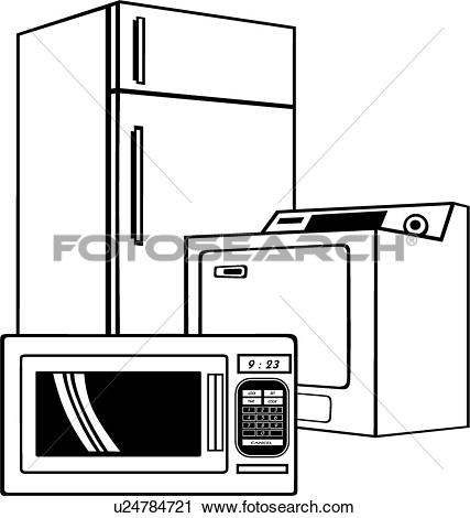 Clipart of , appliance, dryer, washer, u17732880.