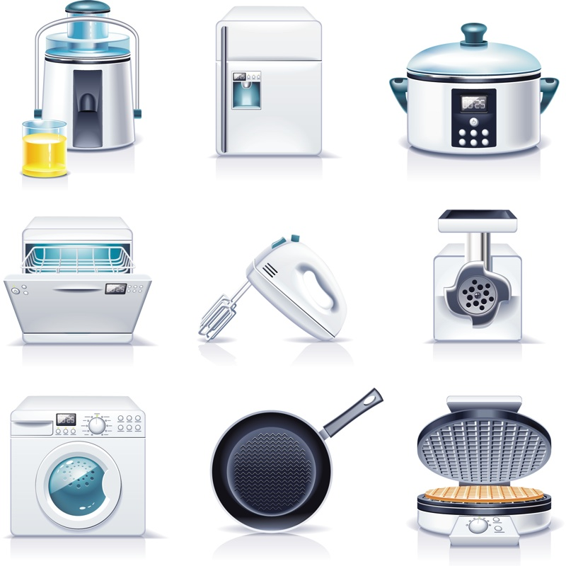 Kitchen appliance clip art.
