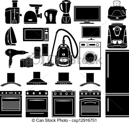 Household appliances Clipart Vector Graphics. 12,940 Household.