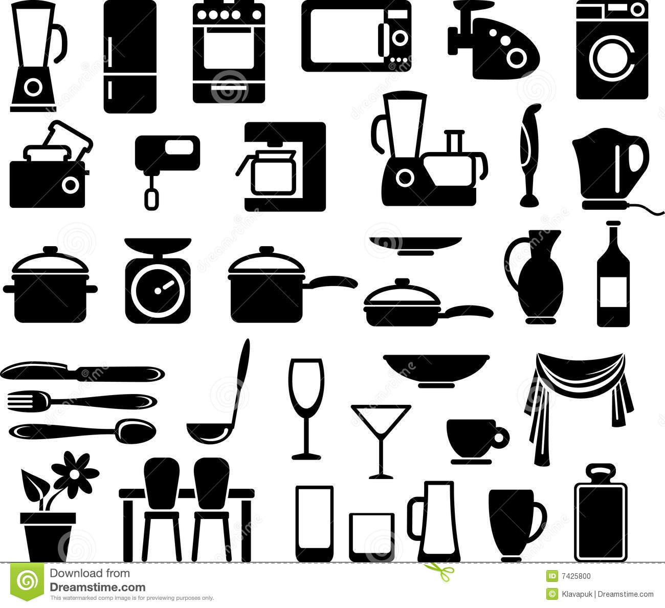 Kitchen appliance clipart free.