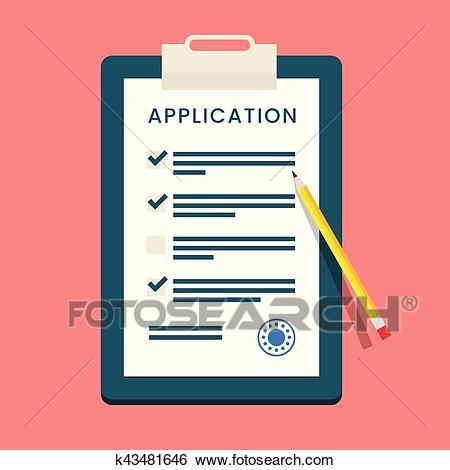 Vector Application Form Clip Art.
