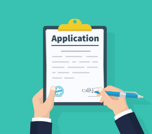 Best Application Form Illustrations, Royalty.