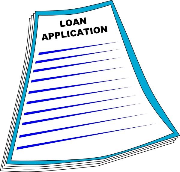 Loan Application clip art Free vector in Open office drawing svg.