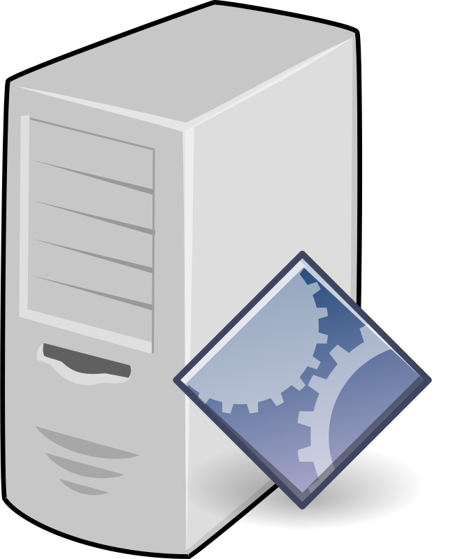 Free Clipart: Application Server.