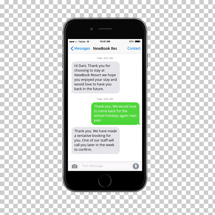 IPhone Mobile app Text messaging Application software iOS.