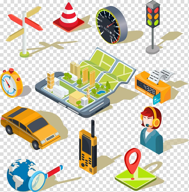 Application software Mobile app Icon, Mobile map APP Icon.