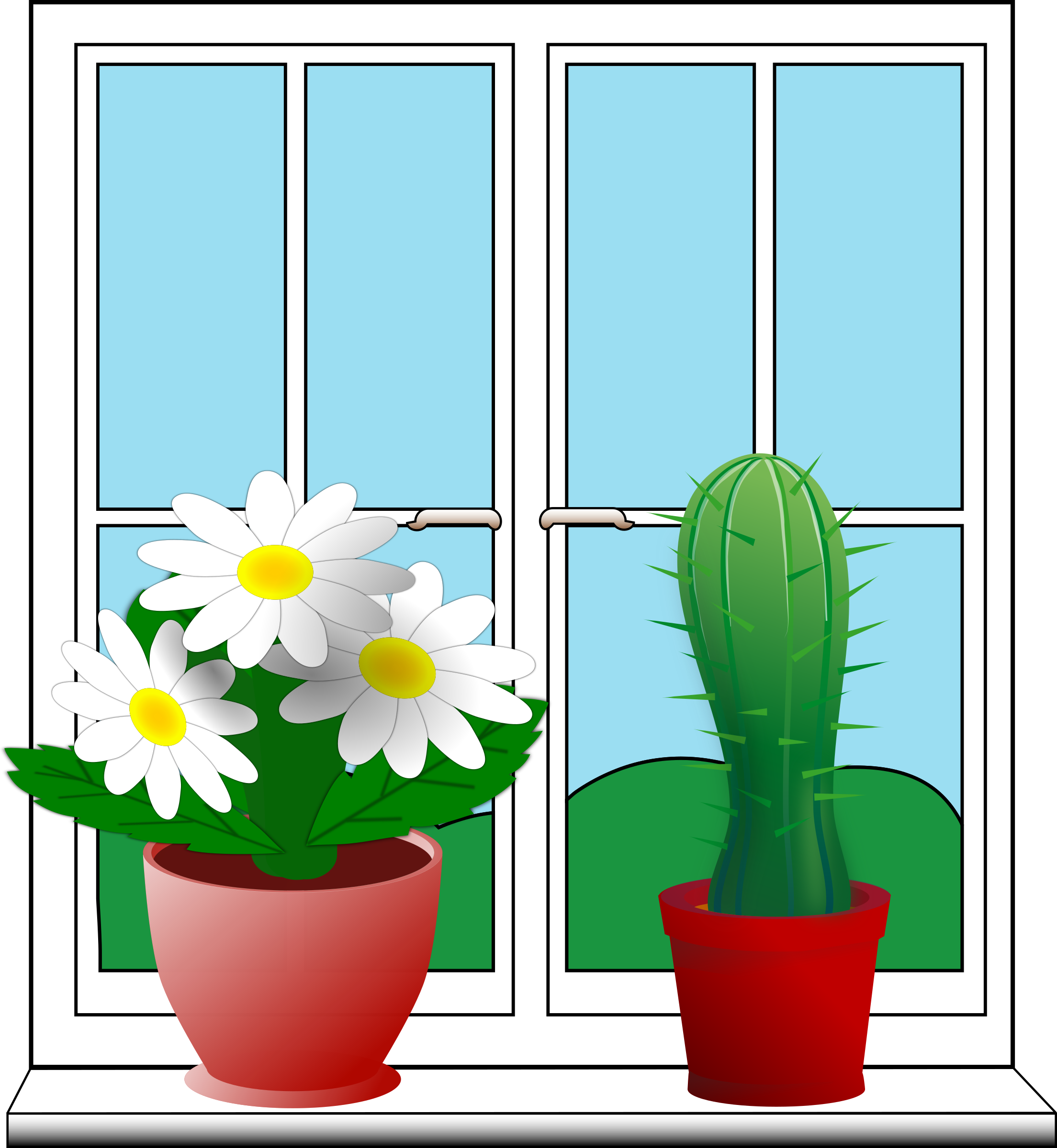 Outside window clipart.