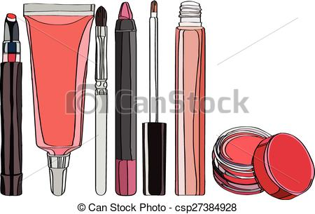 Vector Illustration of Cosmetics for Lips.
