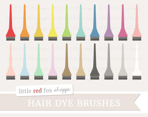 Hair Dye Brush Clipart Applicator Brush Clip Art Hair Stylist.