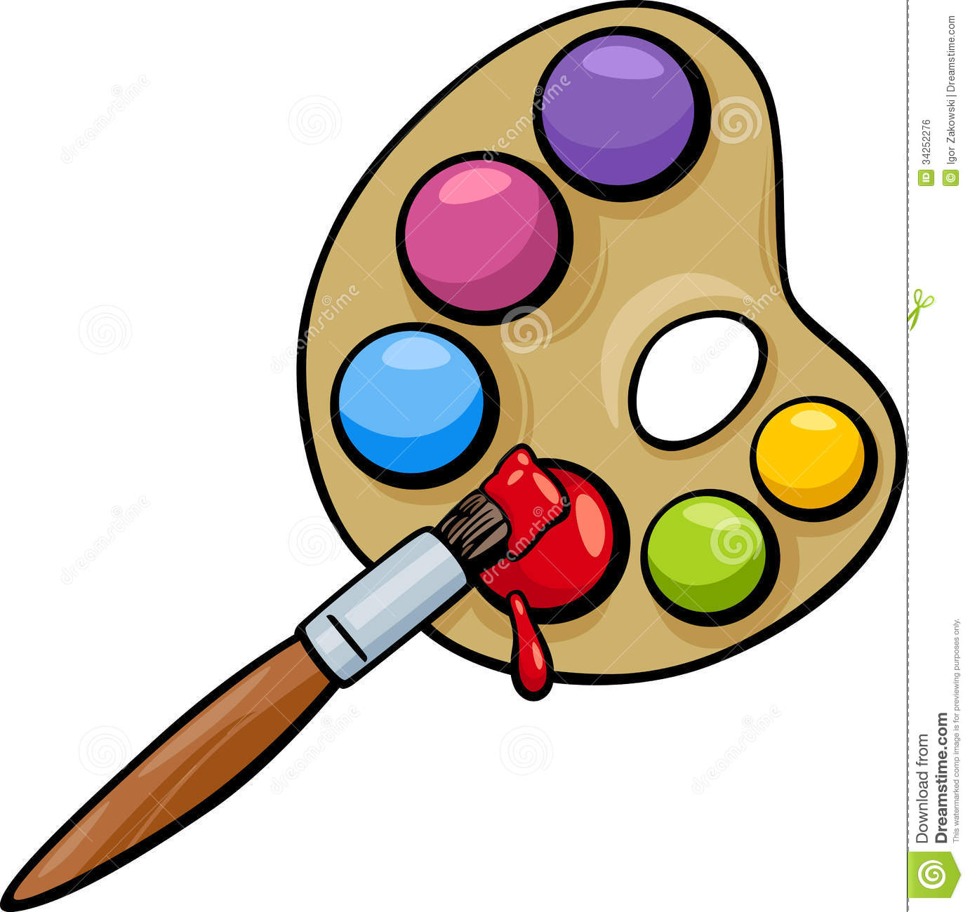 Color application brush clipart.