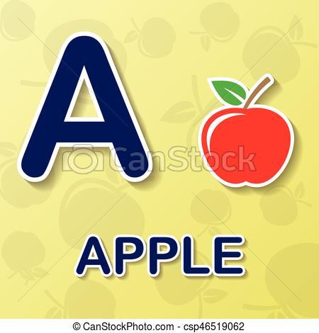 Apple alphabet background.