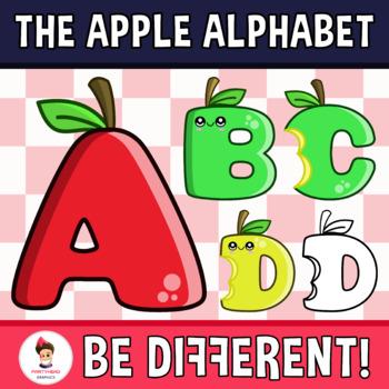 Apple Alphabet Clipart Letters (ENG..