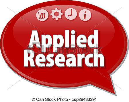 Stock Photographs of Applied Research Business term speech bubble.