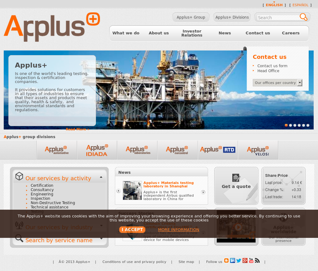 Applus+ Competitors, Revenue and Employees.