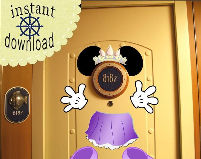 PRINT NOW Mickey Mouse Ears and Body Disney Cruise Door.