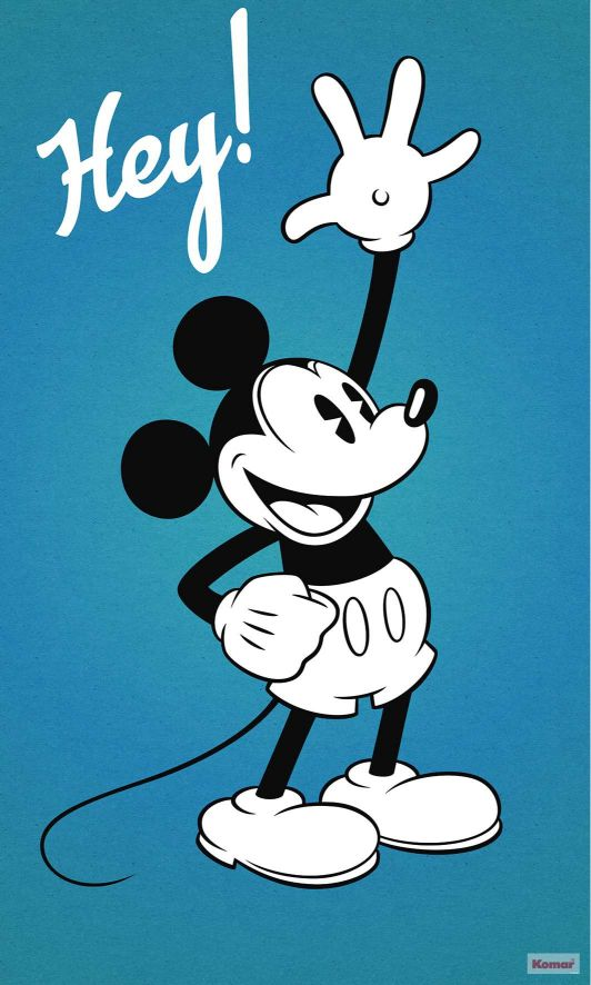 Mickey Mouse Blue wallpaper poster.