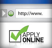 Stock Illustration of Apply Online.
