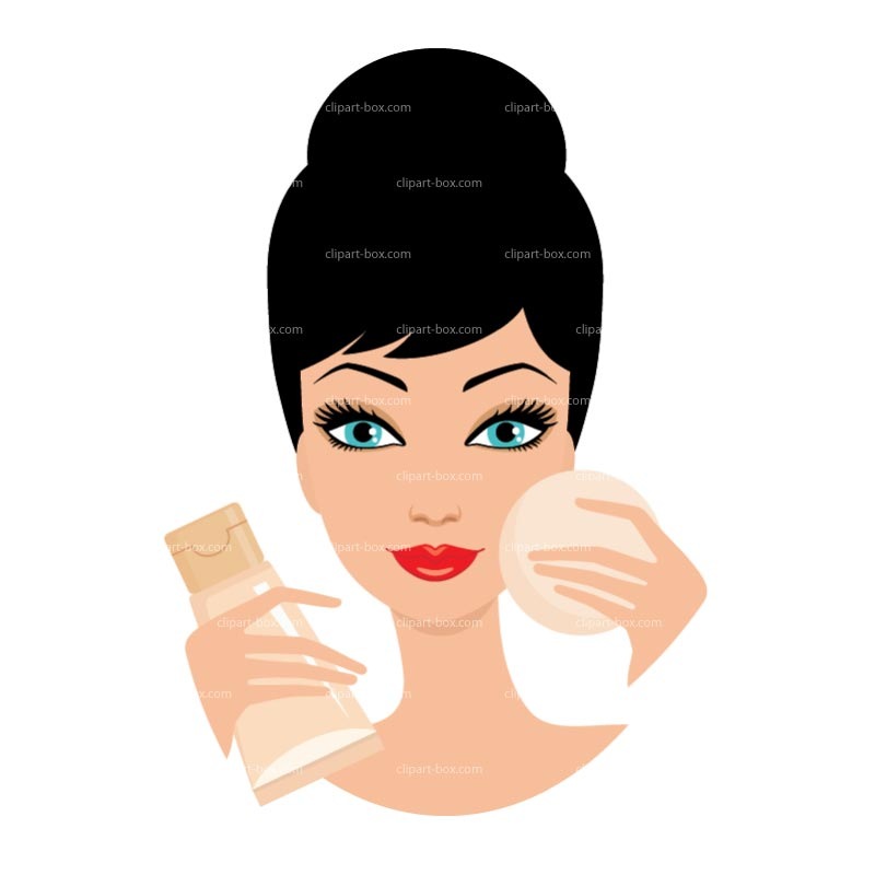 Putting On Makeup Clipart.