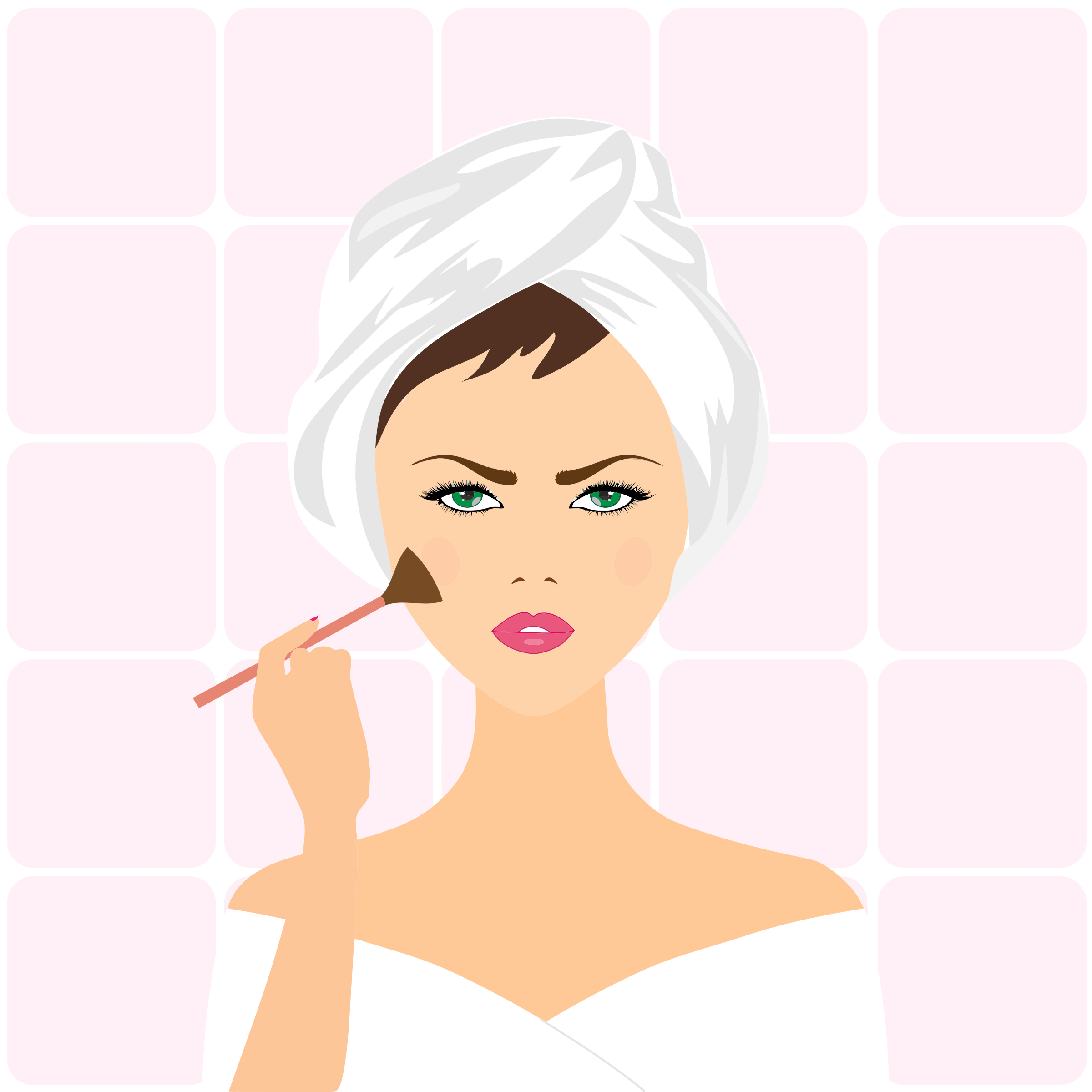 Applying Makeup Clipart.