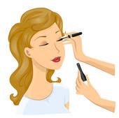 Applying make up Stock Illustrations. 320 applying make up clip.