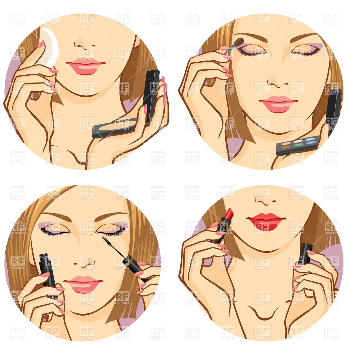 Girl with makeup clipart.