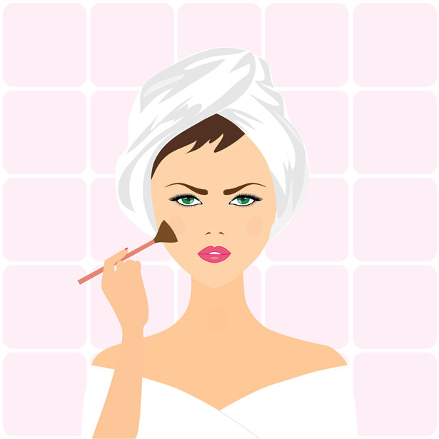 Putting on makeup clip art.