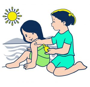 335 Sunscreen free clipart.