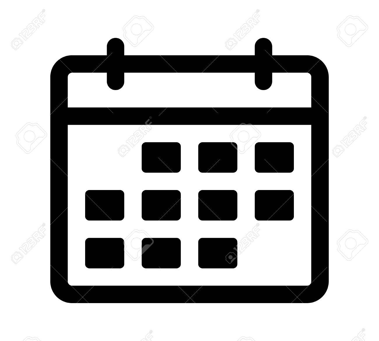 Calendar or appointment schedule line art icon for apps and websites.
