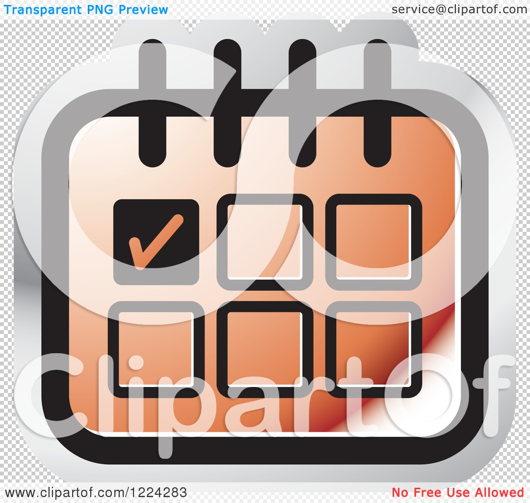 Clipart of a Red Appointment Calendar Icon.