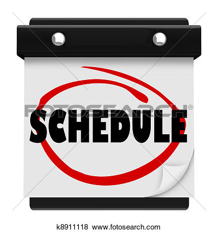Stock Illustration of Schedule Word Wall Calendar Remember.