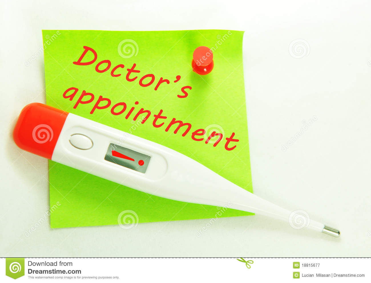 Doctor's Appointment Royalty Free Stock Photography.