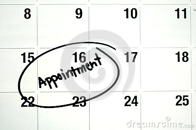 Appointment Calendar Royalty Free Stock Images.
