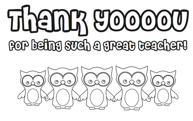 Free Printable for Teacher Appreciation Week!.