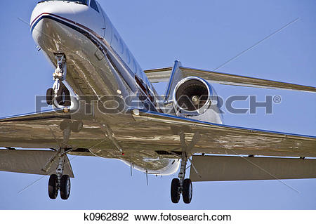 Stock Photo of Airplane Landing Approach k0962892.