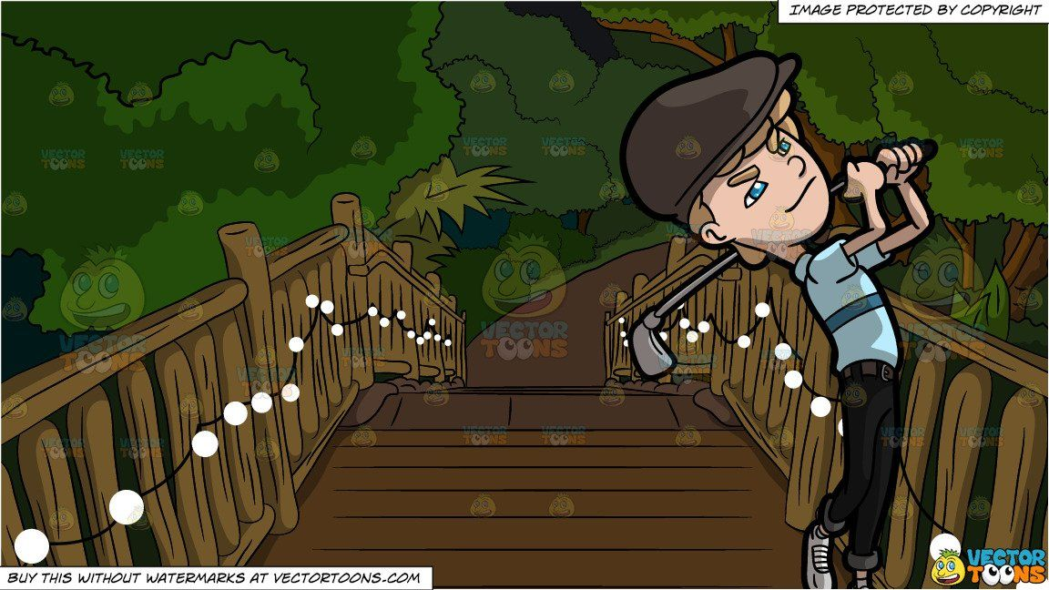 clipart #cartoon A Man Looks On After Taking An Approach.