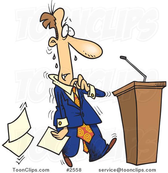 Nervous Speech Clipart.