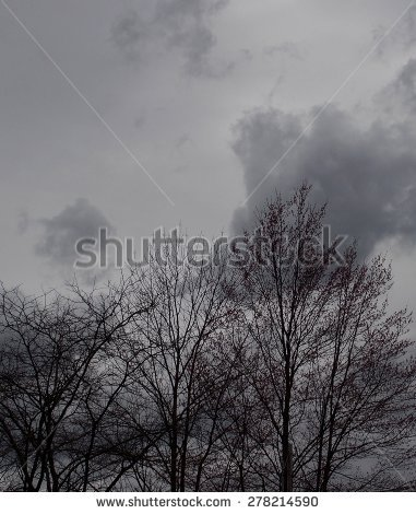 Ominous Dark Approaching Storm Clouds Sky Stock Photo 278214590.